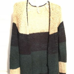 Cute knit color-block free People Sweater